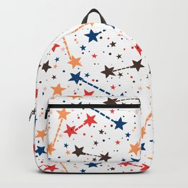 Night sky with constellations and twinkle lights Backpack