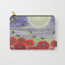 moonlit poppies, fireflies, and snails Carry-All Pouch