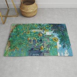 Sunflowers & Artist's House, Hampton Bays by David Davidovich Burliuk Rug