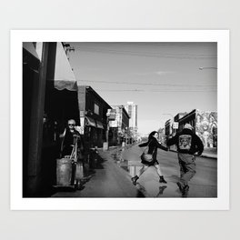 The Gentleman and the Street Sweeper Art Print