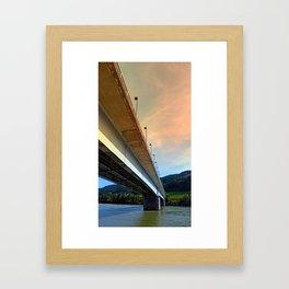 Danube river bridge | architectural photography Framed Art Print
