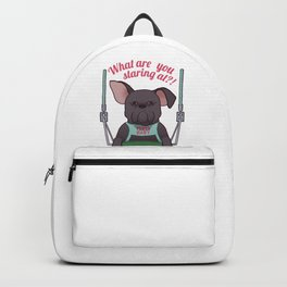 Grumpy Dog On A Swing Backpack