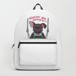 Grumpy Dog On A Swing Backpack