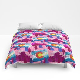 WaterColorado Pink Comforters