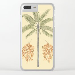 Wax Palm Clear iPhone Case