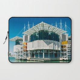 The Lisbon Oceanarium, Aquarium In Portugal, Parque das Nacoes, Wall Art Print, Modern Architecture Laptop Sleeve