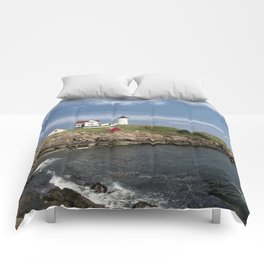 Nubble Lighthouse in Summer Comforters