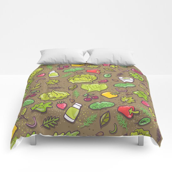 Vegetables and fruits Comforters