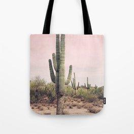 Blush Sky Cactus Tote Bag