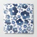 Blue Watercolour Flowers by alannahbrid