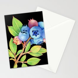 Wild Maine Blueberries Stationery Cards