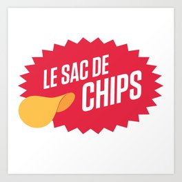 Sac de chips Art Print