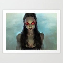 Siren of Phlegethon Art Print