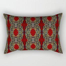 Gorgeous beadwork inspired print Rectangular Pillow