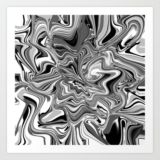 Life is Black and White and Gray Art Print