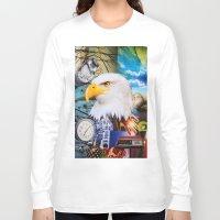 eagle Long Sleeve T-shirts featuring Eagle by John Turck