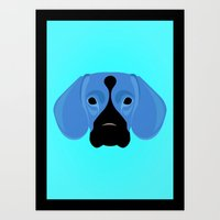 beagle Art Prints featuring Beagle by threeblackdots