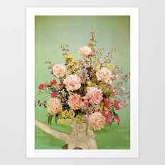 Floral Fashions II Art Print