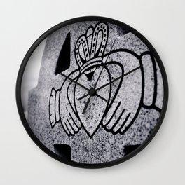 Claddagh closeup Wall Clock