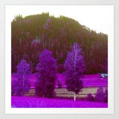 landscape, altered colors 04 Art Print
