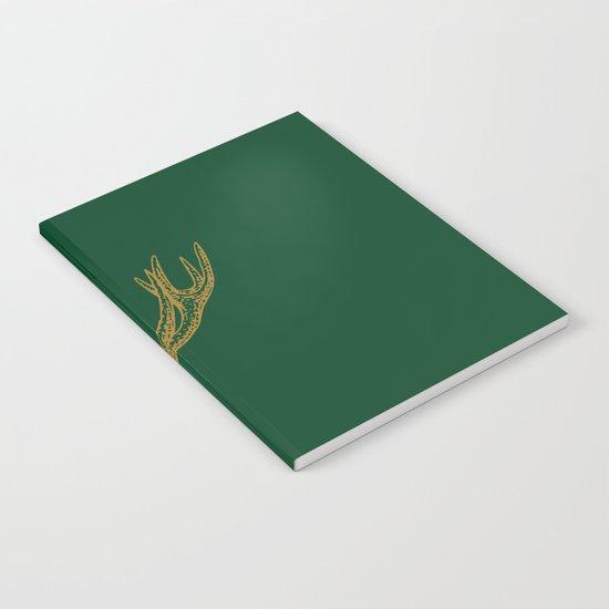 Deer Green Gold Notebook