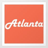 atlanta Art Prints featuring Atlanta by AE Interiors