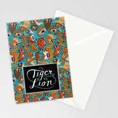 Tiger VS. Lion Stationery Cards