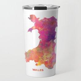 Wales map #wales #map Travel Mug