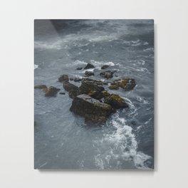 River Rocks in Iceland Metal Print