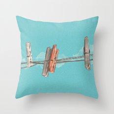 Boho Clothespin Throw Pillow