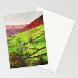Green Grasmere Hillside, Ambleside, Lake District UK Stationery Cards