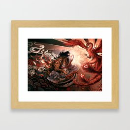 Hurry up to love Framed Art Print