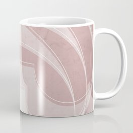 Spacial Orbiting Spiral in Shell Pink Coffee Mug