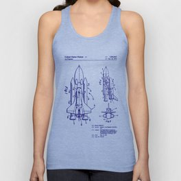 1975 NASA Space Shuttle Patent Unisex Tank Top