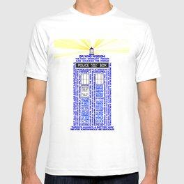 Doctor Who TARDIS Words of Wisdom T-shirt