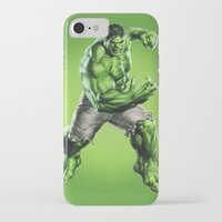 hulk iPhone & iPod Cases featuring HULK by Hands in the Sky