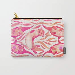 Five Otters – Pink Ombré Carry-All Pouch