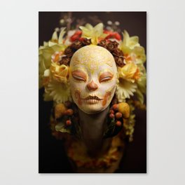 Golden Harvest Muertita Detail Canvas Print