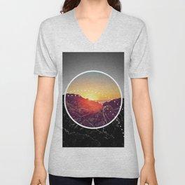 Peel Sunset - Circle graphic Unisex V-Neck