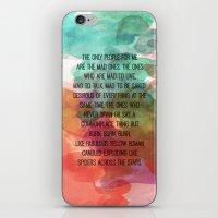 kerouac iPhone & iPod Skins featuring Kerouac Watercolour: by NomadicArt