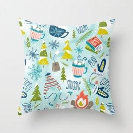 Snow Day Hooray! Throw Pillow
