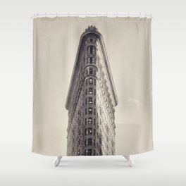 Flatiron Building, original New York photography, skyscrapers, wall decoration, home decor, nyc b&w Shower Curtain