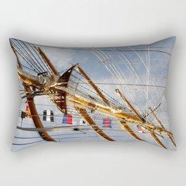 Frigate Flags Rectangular Pillow