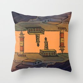 In Love with the Sea / Lighthouses Fuencaliente Throw Pillow