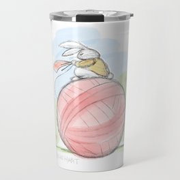 Bunny on a Ball Travel Mug