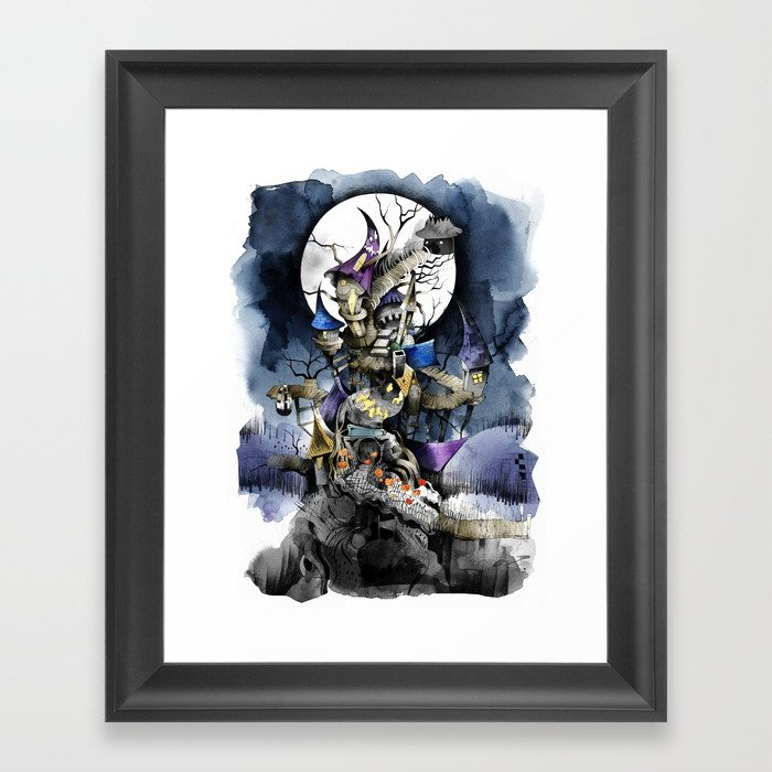 The Nightmare Before Christmas Framed Art Print By Sandraink Society6