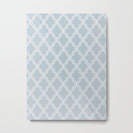 BlueGray Moroccan Metal Print