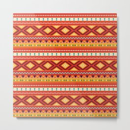 Tribal #5 * Ethno Ethnic Aztec Navajo Pattern Boho Chic Metal Print