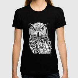 Flustered Owl Zentangle (abstract T-shirt