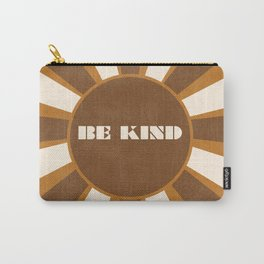 Be Kind brown Carry-All Pouch
